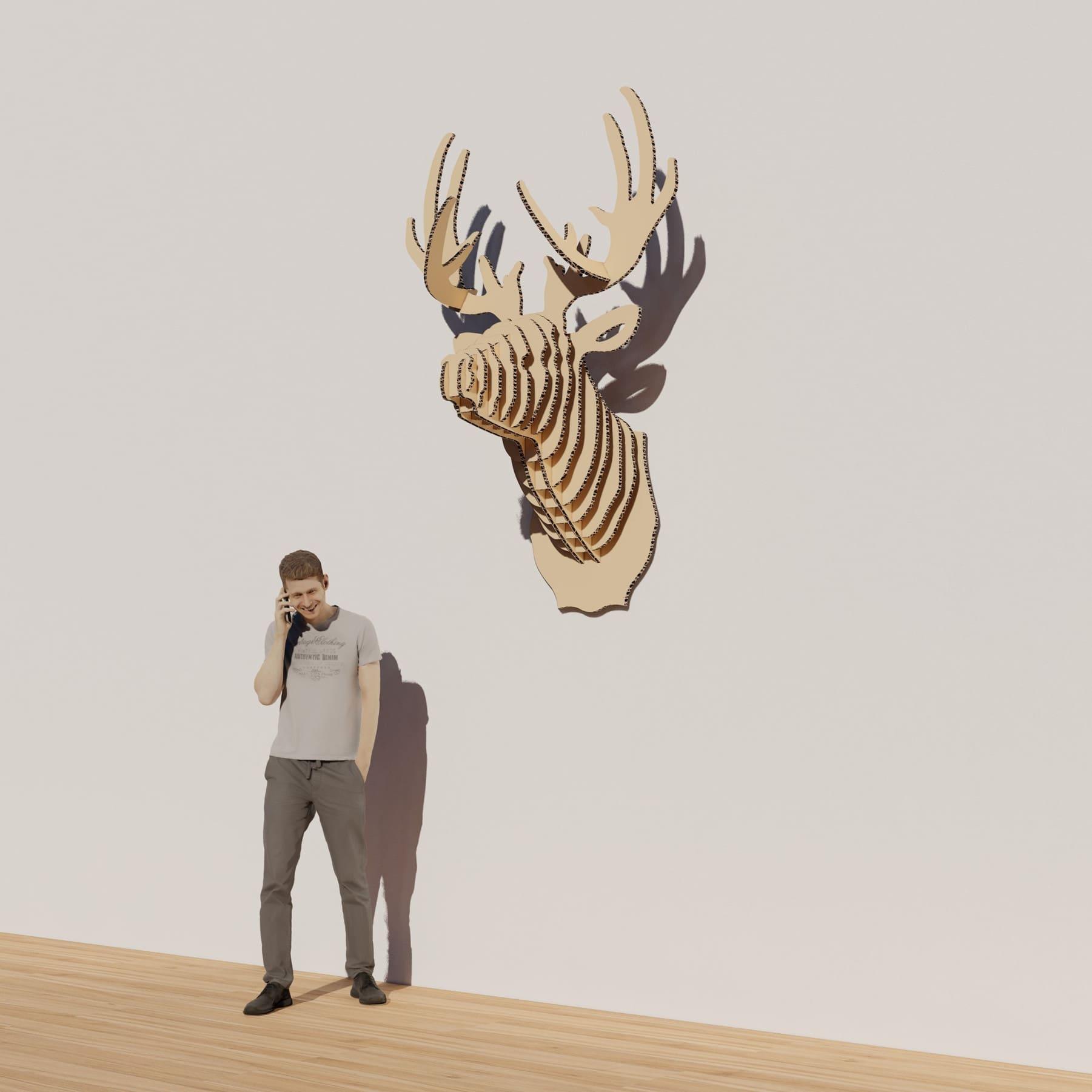 Tête de cerf 3D - Maison des Etudiants au Campus Sup Ardenne à Charleville-Mézières